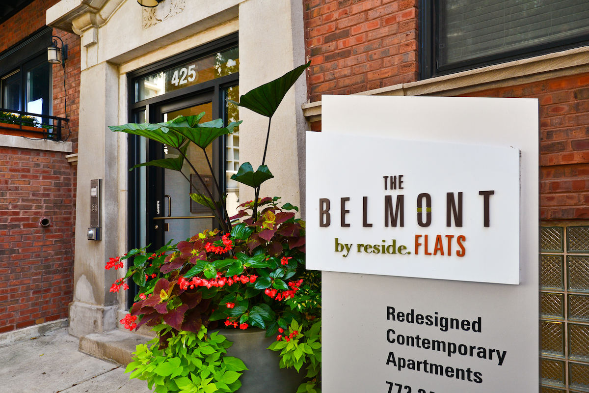 The Belmont by Reside Flats Entrance, Lakeview