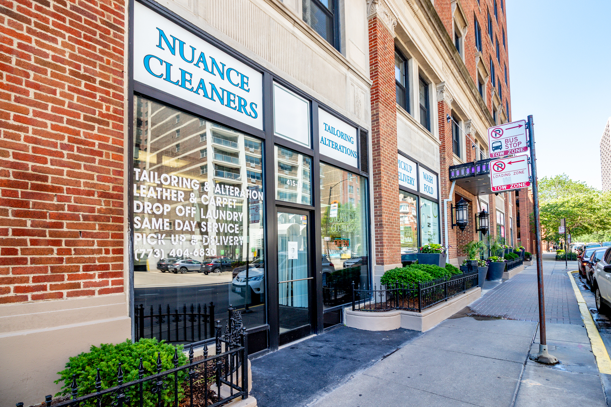 Exterior of a small retail space in Lakeview Chicago